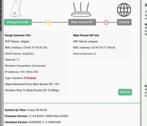 TL-WA850RE dynamic ip failure - TP-Link SOHO Community
