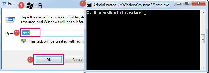 Open the command window.