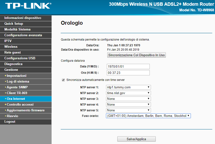 update firmware on tp-link td-w8968