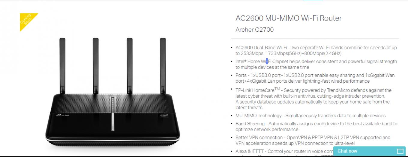 AC2600 MU-MIMO Wi-Fi Router Archer C2700 - TP-Link SOHO