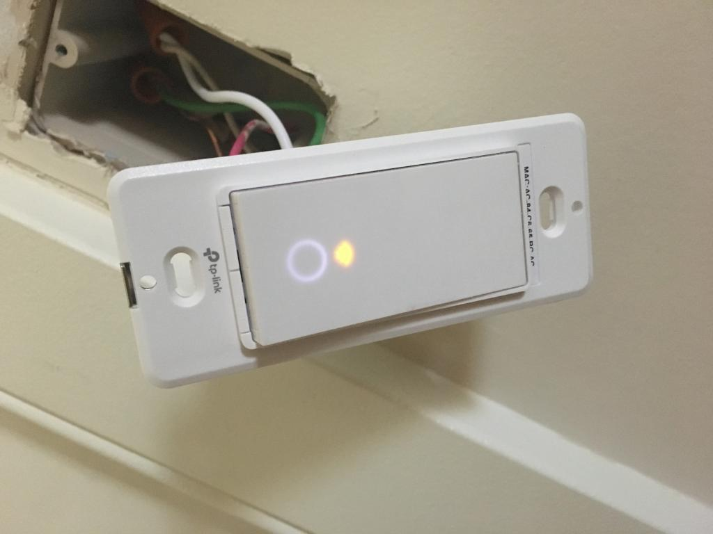 3 way light switch HS210 wifi only blinks slow amber - TP-Link SOHO