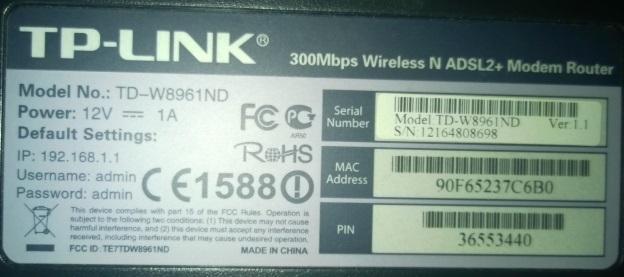 download atualização firmware tp link td-w8961n