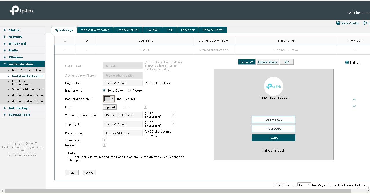 Tp Link Portal Authentication